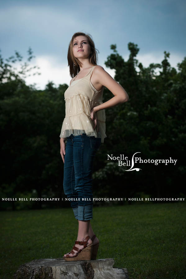 Outdoor Session, Oak Ridge TN, Senior Pictures, Gold, B&W, Noelle Bell Photography